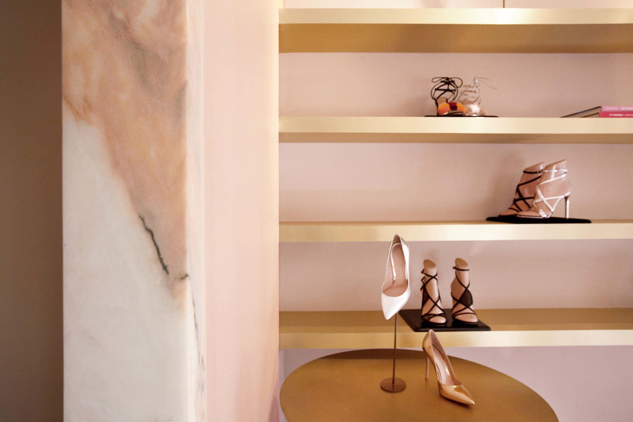 Gianvito Rossi showroom Nicole Fuller commercial retail interior designer-5