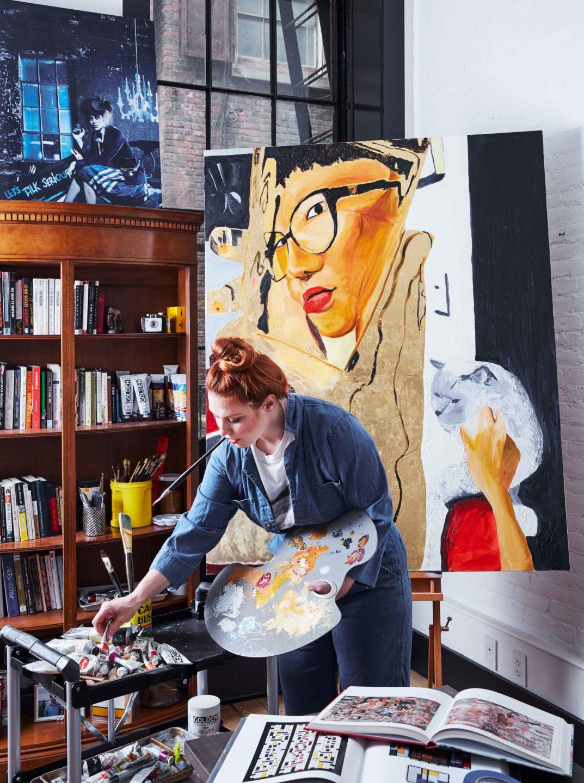 Nicole-Fuller-Interior-Designer-tribeca-loft-painter-painting-1