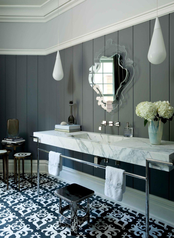 Nicole-Fuller-Interiors-Dutchess-Suffern-Estate-bathroom-glas-italia-mirror-marble-freestanding-sink-spanish-tile-new-york-interior-designer