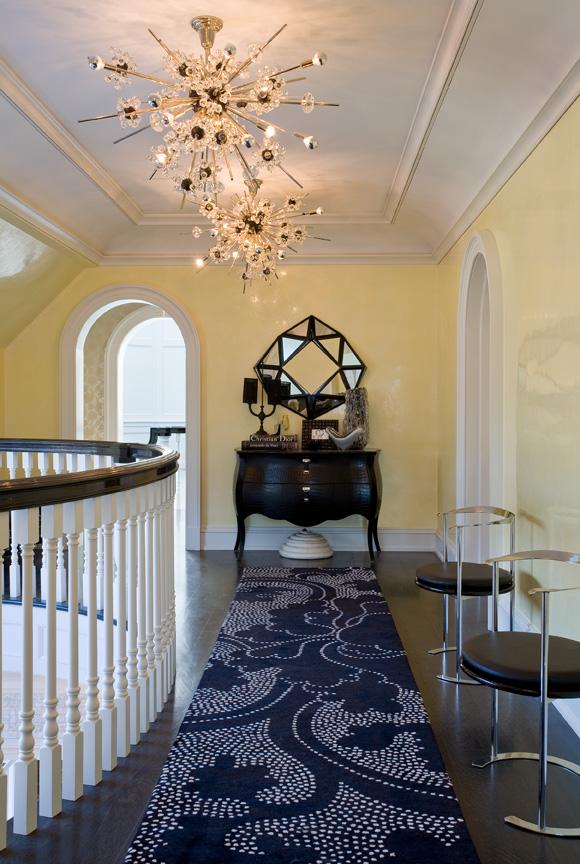 Nicole-Fuller-Interiors-Dutchess-Suffern-Estate-hallway-blue-rug-new-york-interior-designer